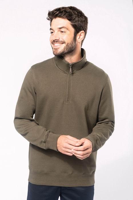 Mikina unisex Zipped neck sweatshirt - zvìtšit obrázek