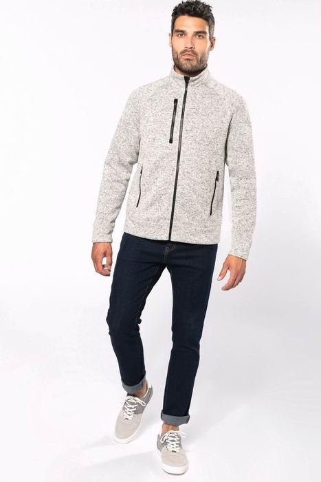 Pánská bundová mikina Full zip heather jacket - zvìtšit obrázek