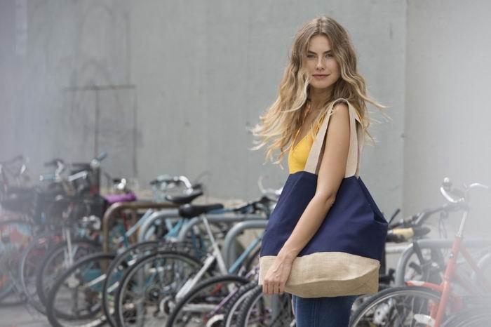 Nákupní taška z bavlny a juty - zvìtšit obrázek