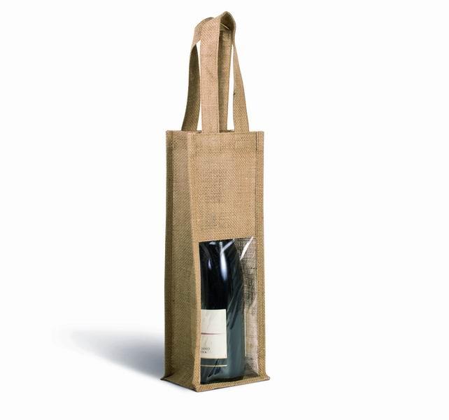 Jutová taška na víno - zvìtšit obrázek